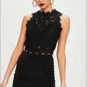 [Zara] black lace top